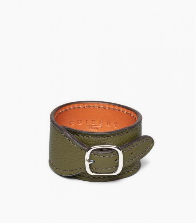 Taurillon Leather Bracelet, kaki