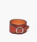 Cuff bracelet taurillon leather, massaï