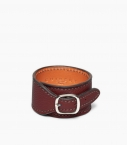Cuff bracelet taurillon leather, pauillac
