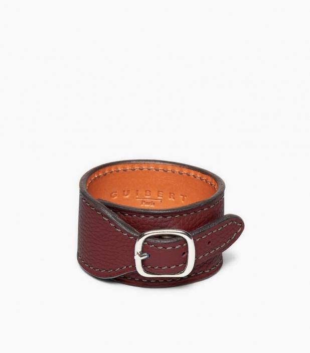 Taurillon Leather Bracelet, pauillac