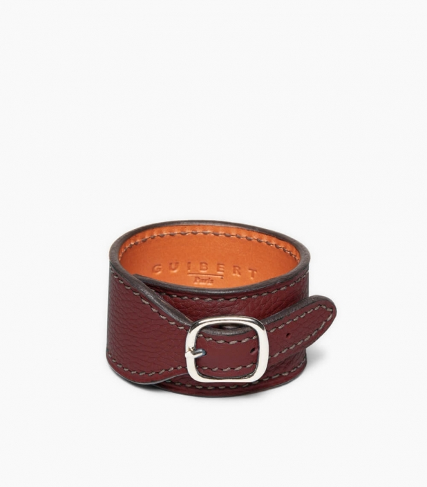 Taurillon Leather Bracelet, pauillac