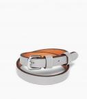 Bracelet sous gorge cuir Taurillon, galet