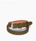 Throatlash bracelet Taurillon leather, kaki