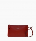 Clutch bag taurillon Pessoa, red