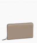 Zipped purse 8 cards taurillon Pessoa, dove