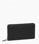 Zipped purse 8 cards taurillon Pessoa, black