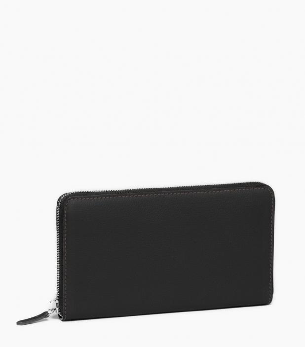 Pochette zippée 8c taurillon, noir