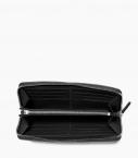 Zipped organizer 8c taurillon, black