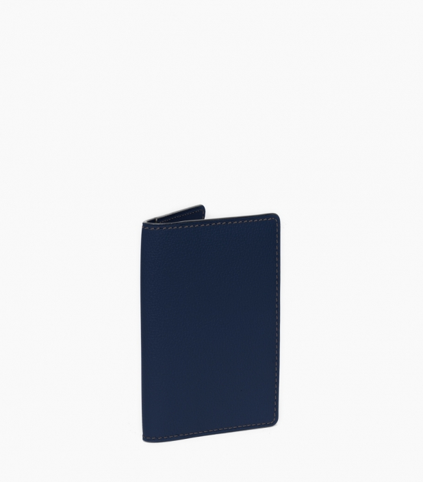 Slim wallet taurillon, sapphire