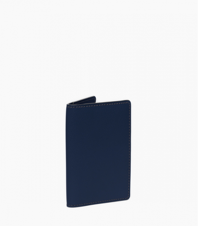 Slim wallet taurillon, sapphire