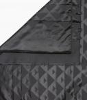 Silk & wool Quarter marker scarf, black