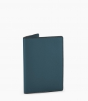 Porte-passeport taurillon Pessoa, bleu canard