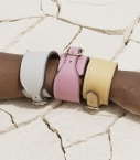 Guibert Bracelet de force Taurillon, pebble